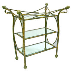 Arthur Court Faux Bamboo Serving Cart, 1960s