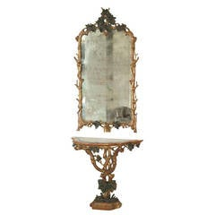 Console and Mirror Early 19th Century Italian