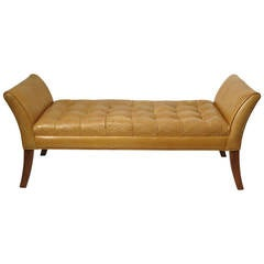Classical Style Leather Bench