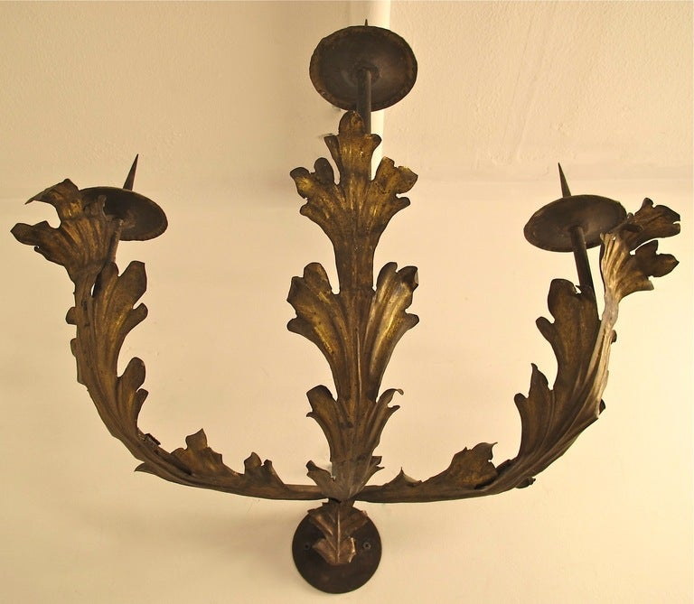 Italian Candle Wall Sconces : Pair of 18thC Italian Candle Sconces at 1stdibs