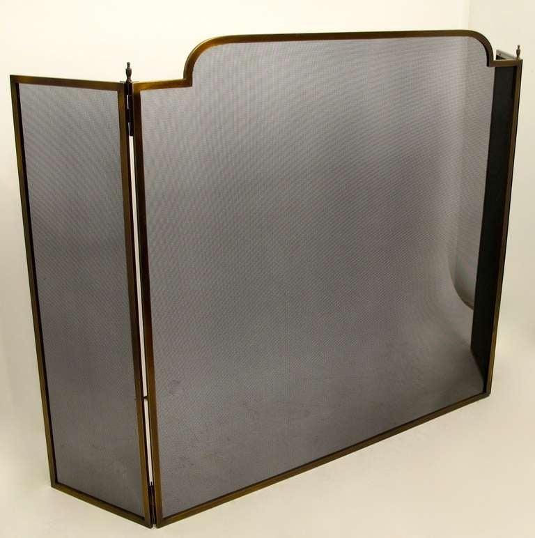 Vintage Bronze Framed Fire Screen At 1stdibs