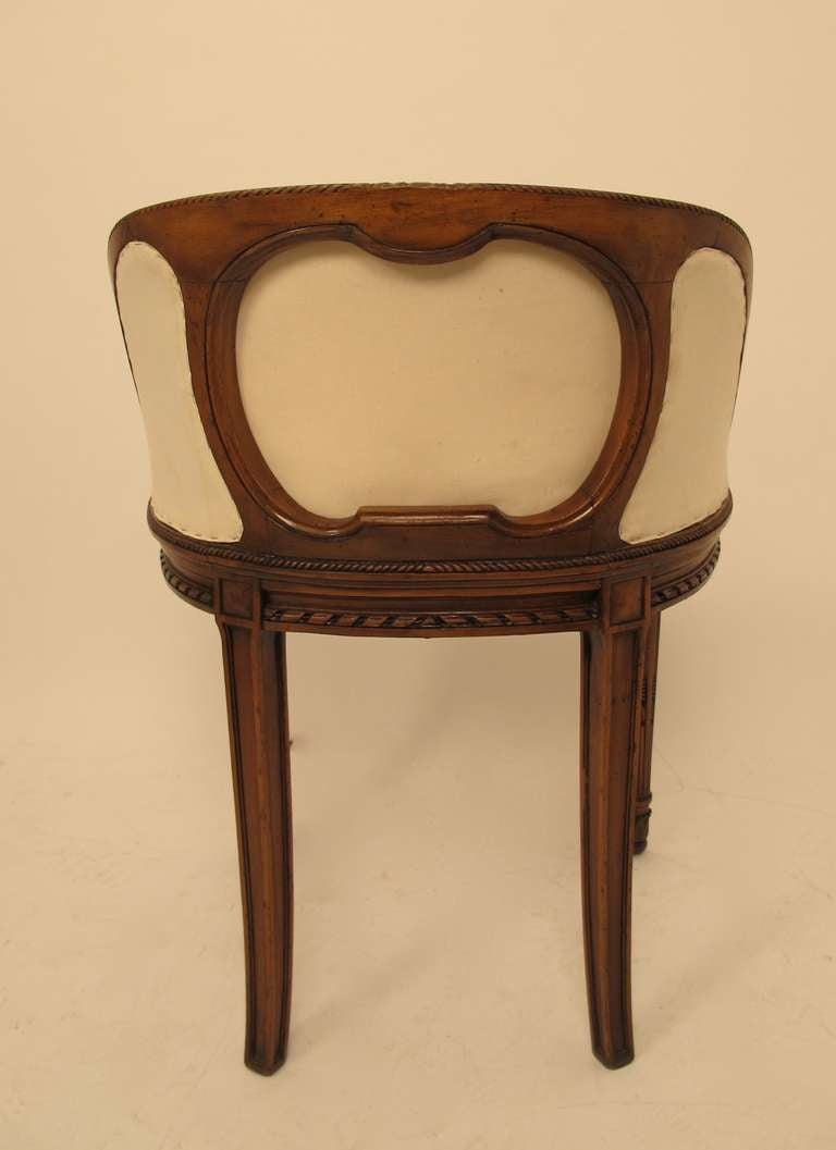 Curved Back Vanity Or Dressing Table Chair At 1stdibs