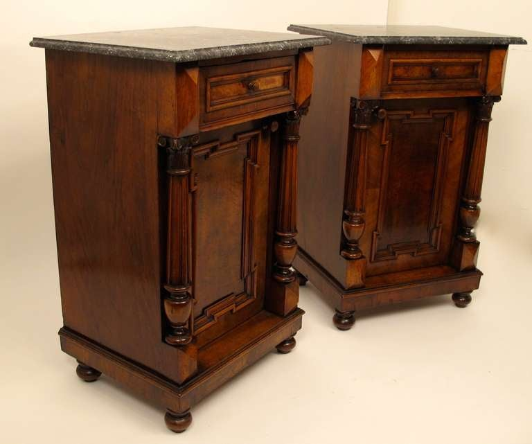 Pair Of European Renaissance Revival Bedside Cabinets Or