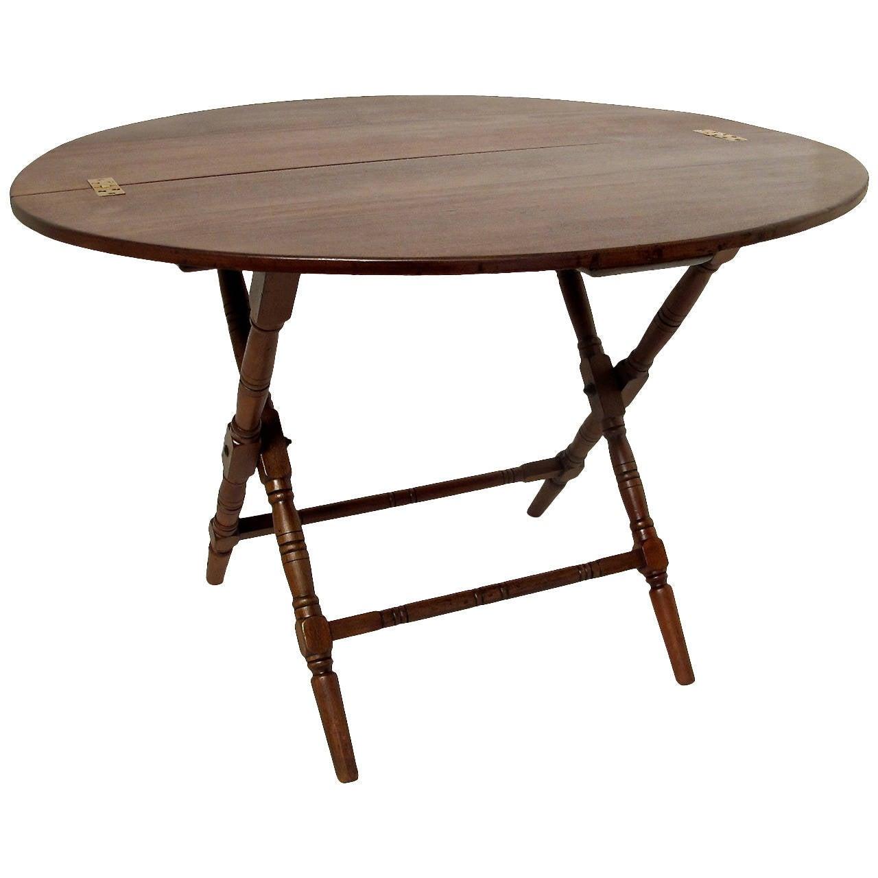 19th Century Walnut Campaign Table