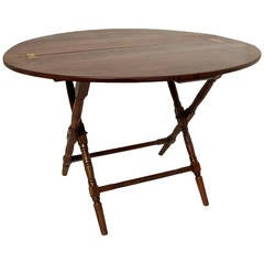 19th Century Walnut Campaign Table