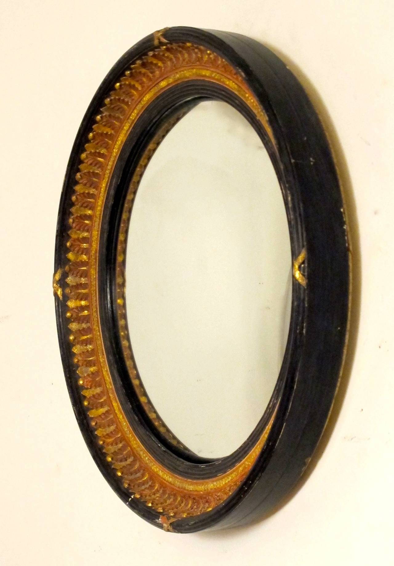 unusual english convex mirror at 1stdibs