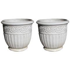 Pair of Large Gladding McBean Pots