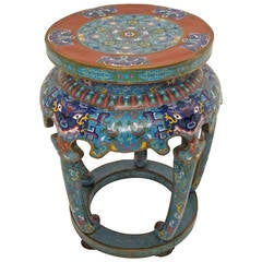 Chinese Cloisonne Stool