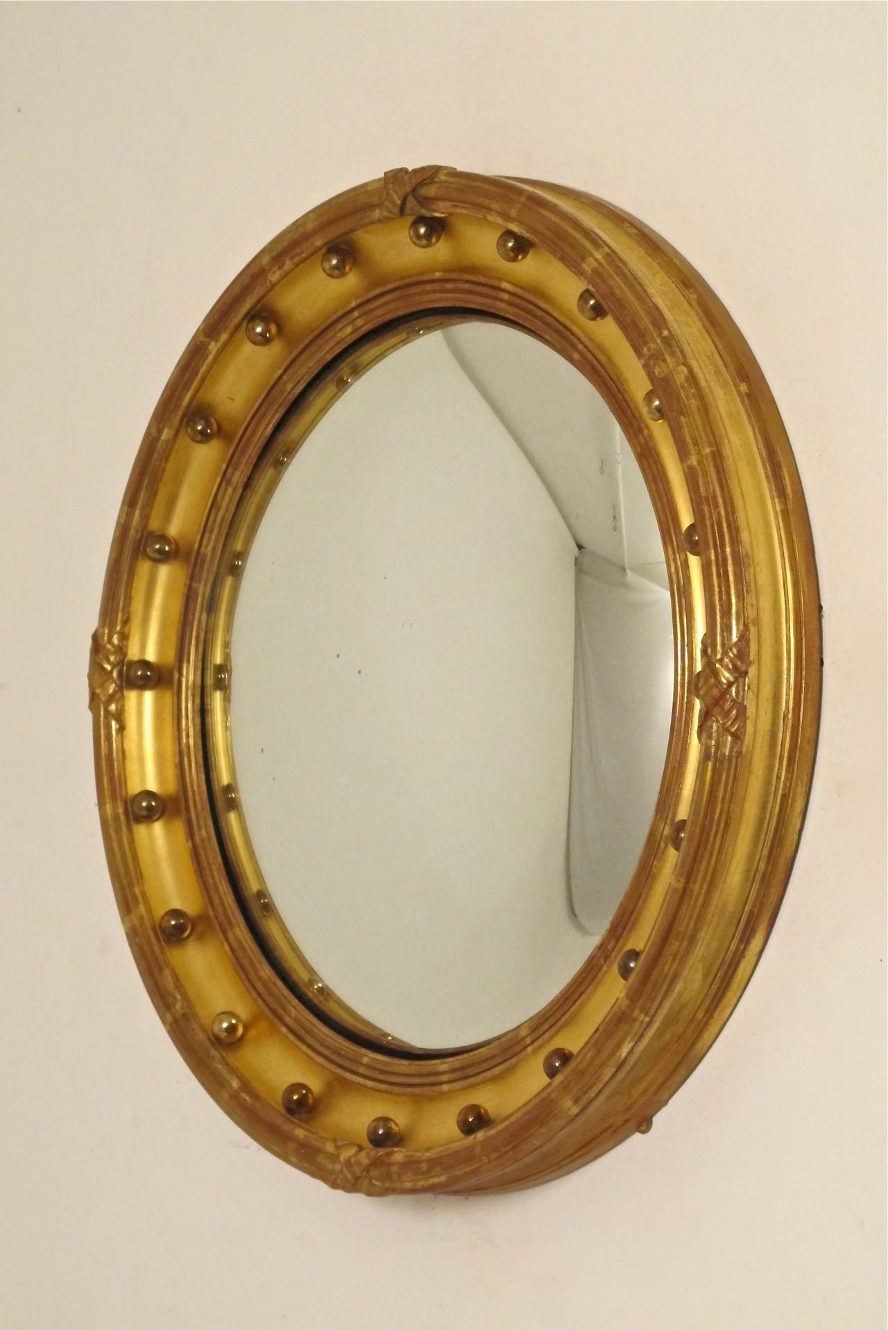 English regency convex mirror at 1stdibs for Convex mirror