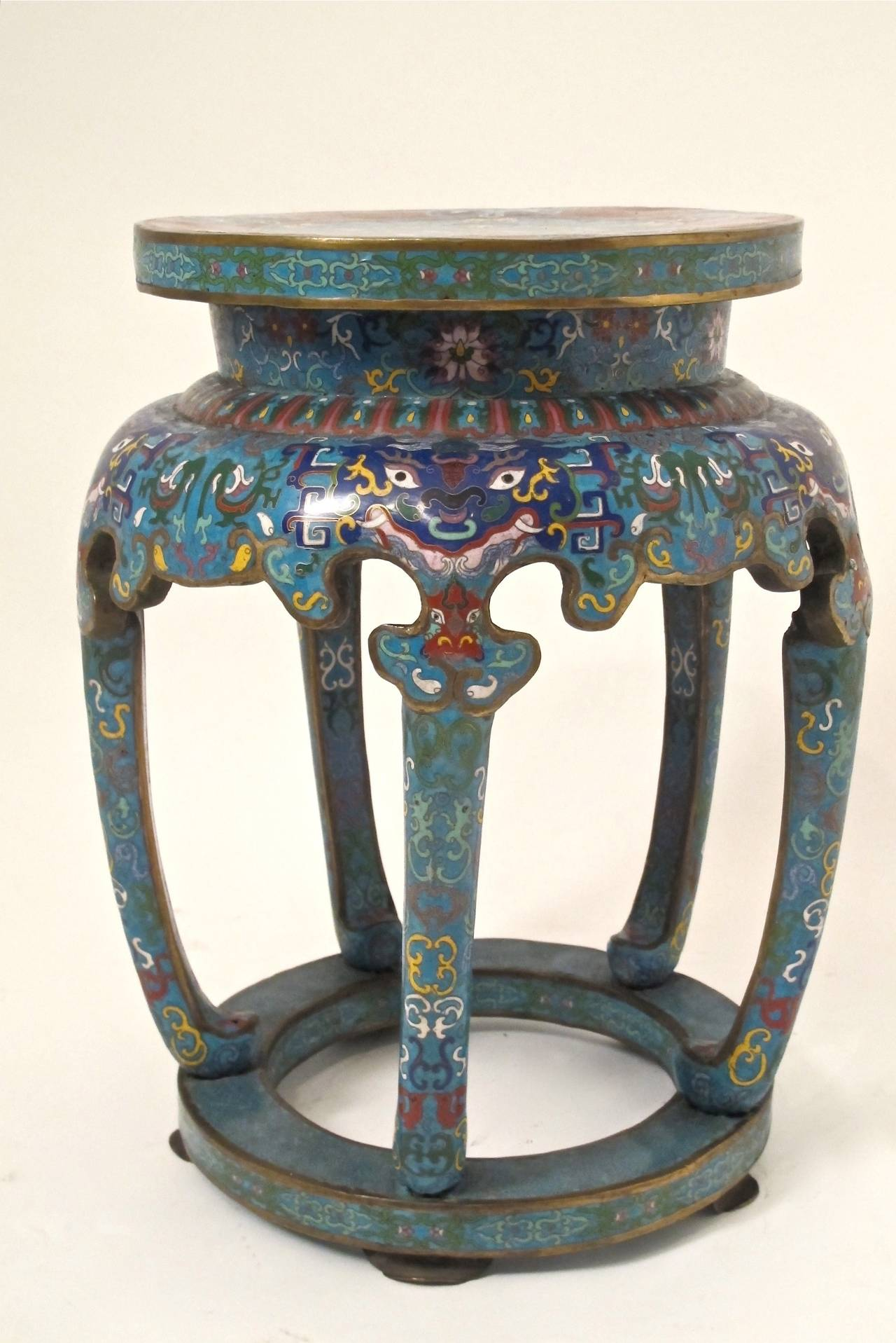 Chinese Cloisonne Stool At 1stdibs