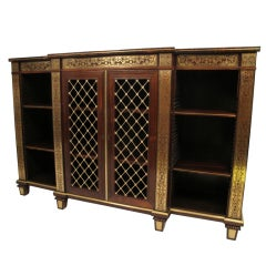 19th Century English Regency Rosewood Side Cabinet Credenza