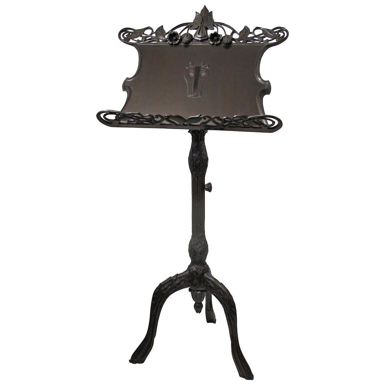 art nouveau music stand for sale at 1stdibs. Black Bedroom Furniture Sets. Home Design Ideas