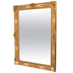 19th Century French Painted Mantle Pier Mirror