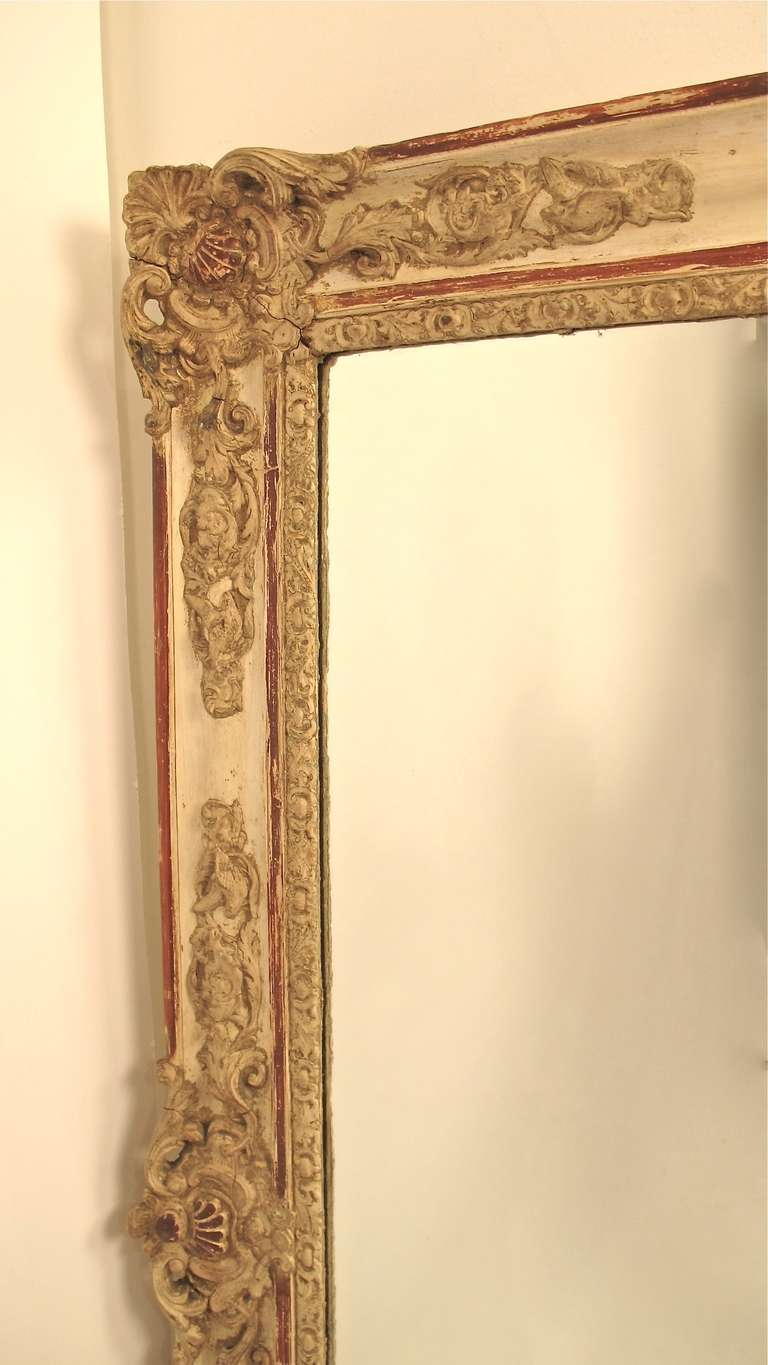19th century french painted mantle pier mirror for sale at for Mantel mirrors