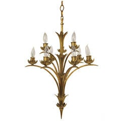 Art Moderne Brass Light Fixture