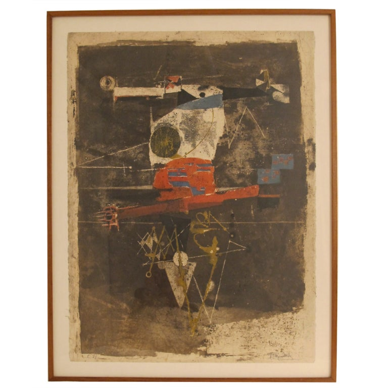 Johnny Friedlaender Abstract Etching