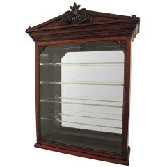 Victorian Walnut Display Cabinet