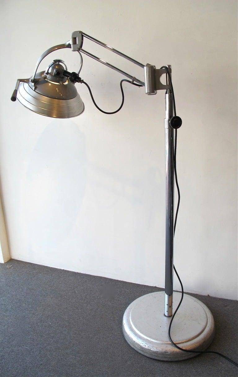 American Industrial Floor Lamp