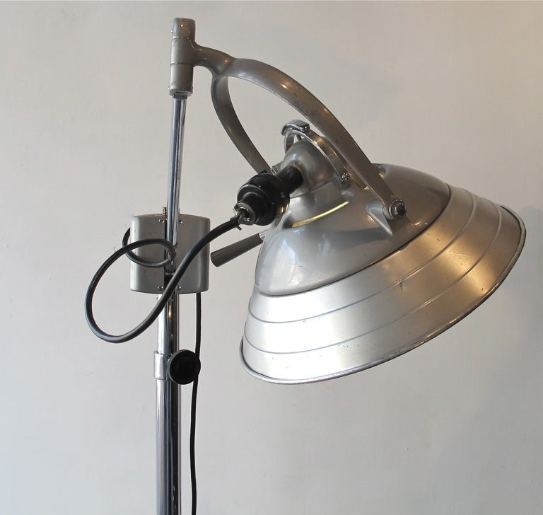 Industrial Floor Lamp In Good Condition In San Francisco, CA