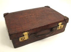 Antique Alligator Valise Travel Case 1920's