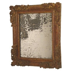18th Century Italian Painted and Gilt Mirror