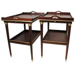 Pair of French Mahogany Tables