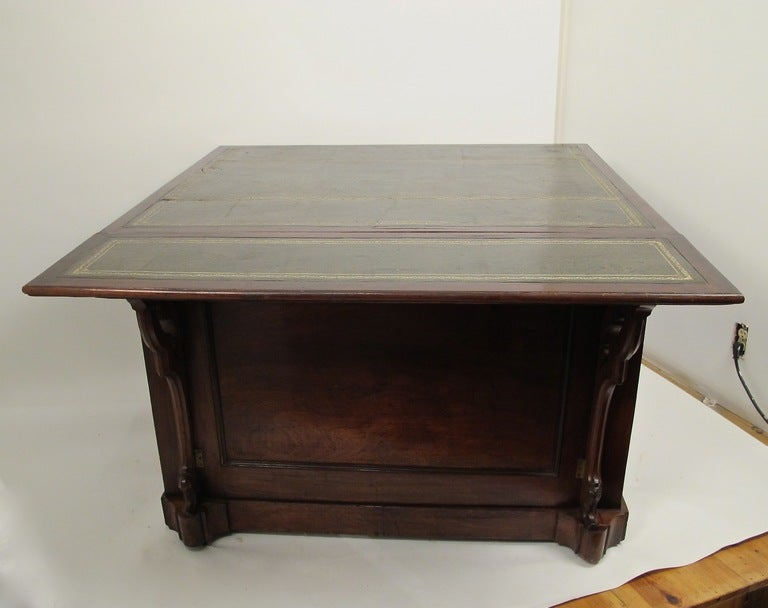 19th Century Map Or Print Collector Cabinet Library Table For 3