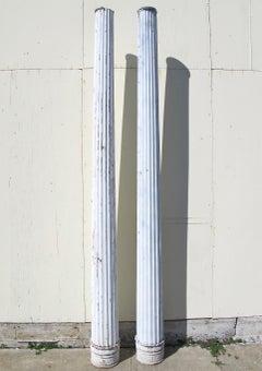 Antique Cast Iron and Tin Street Light Columns