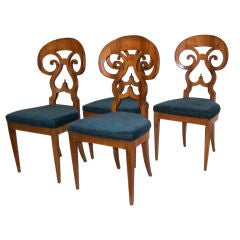 Set of Ten Biedermeier Style Dining Chairs