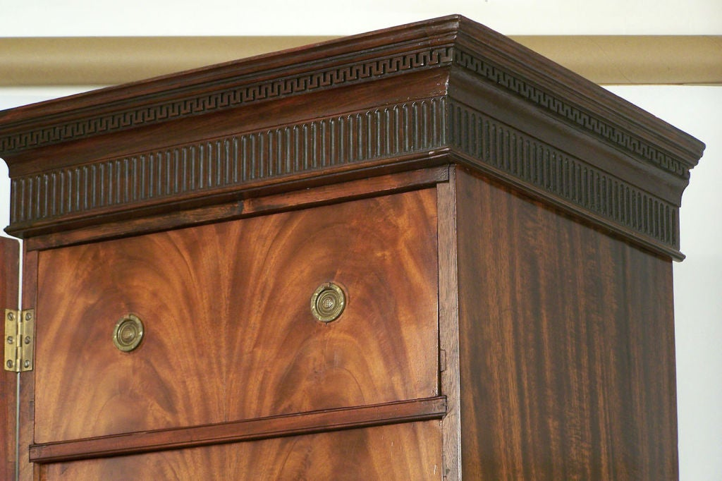 18th Century and Earlier 18th Century English Georgian Mahogany Wellington Chest For Sale