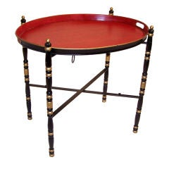 Italian Tole Painted Tray Table