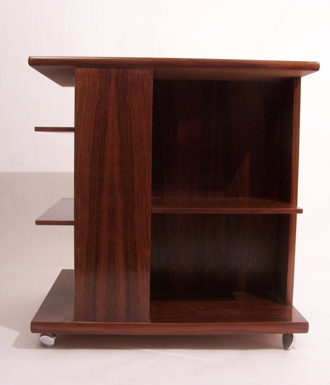 Danish Rosewood Bookshelf By J Ingvard Jensen At 1stdibs