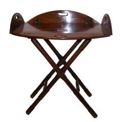 English Georgian Butler's Tray and Stand