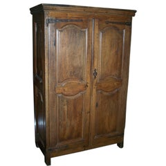 18th Century French Oak Armoire Cabinet