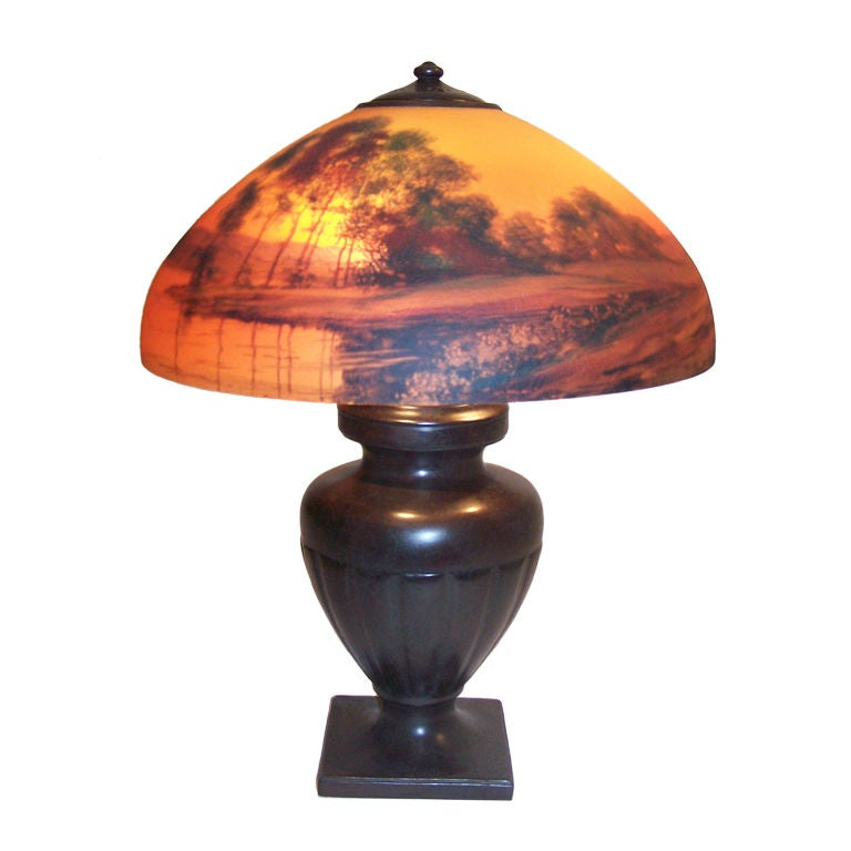 Asian reverse painted lamps