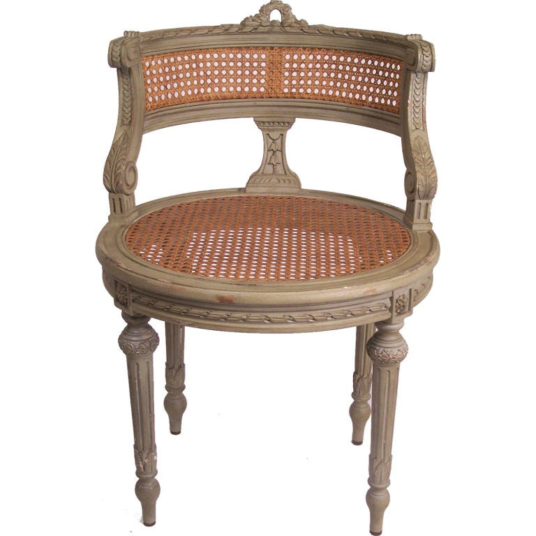 French Vanity Chair at 1stdibs : XXX812812977313071 <strong>Fabric High</strong> Back Desk Chair from www.1stdibs.com size 768 x 768 jpeg 68kB