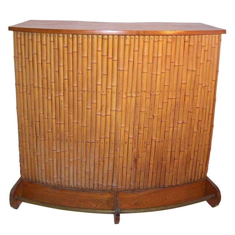Vintage bamboo tiki bar at 1stdibs