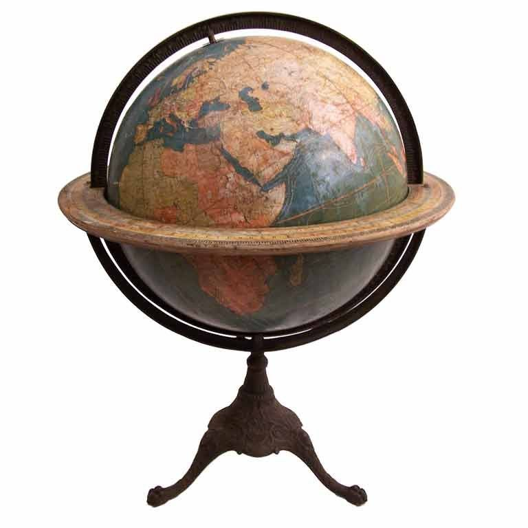 Large library globe by w and a k johnston at 1stdibs Home furniture johnston st