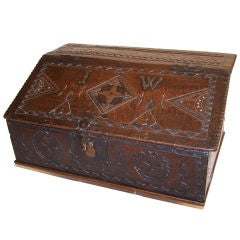18thC English Oak Bible Box