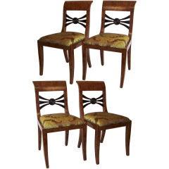 Set of Four Biedermeier Chairs