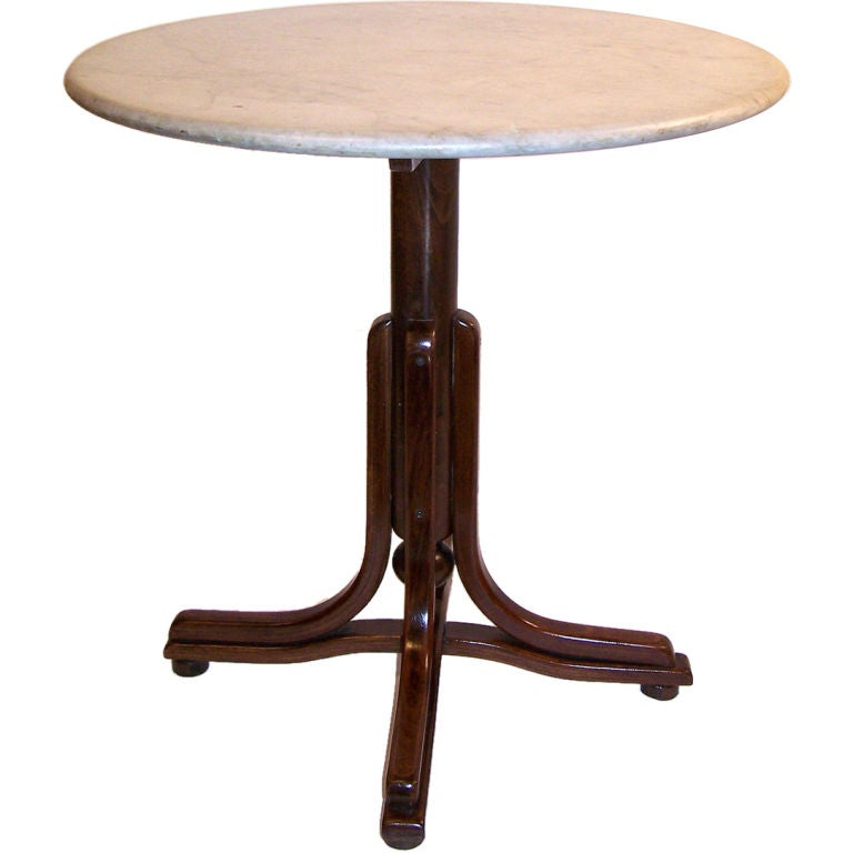 Thonet style cafe table at 1stdibs for Table thonet