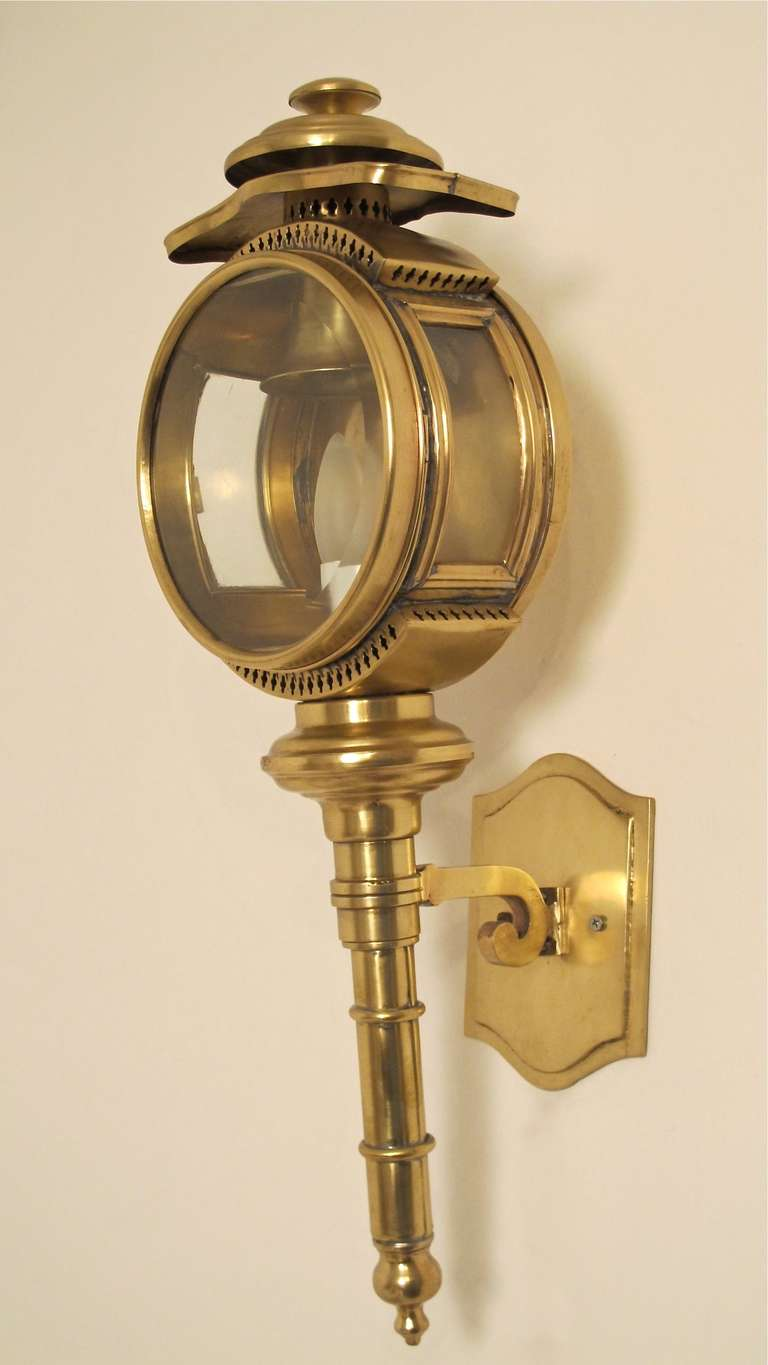 Wall Mounted Carriage Lamps : Brass Carriage Lamp/Lantern/Sconce For Sale at 1stdibs