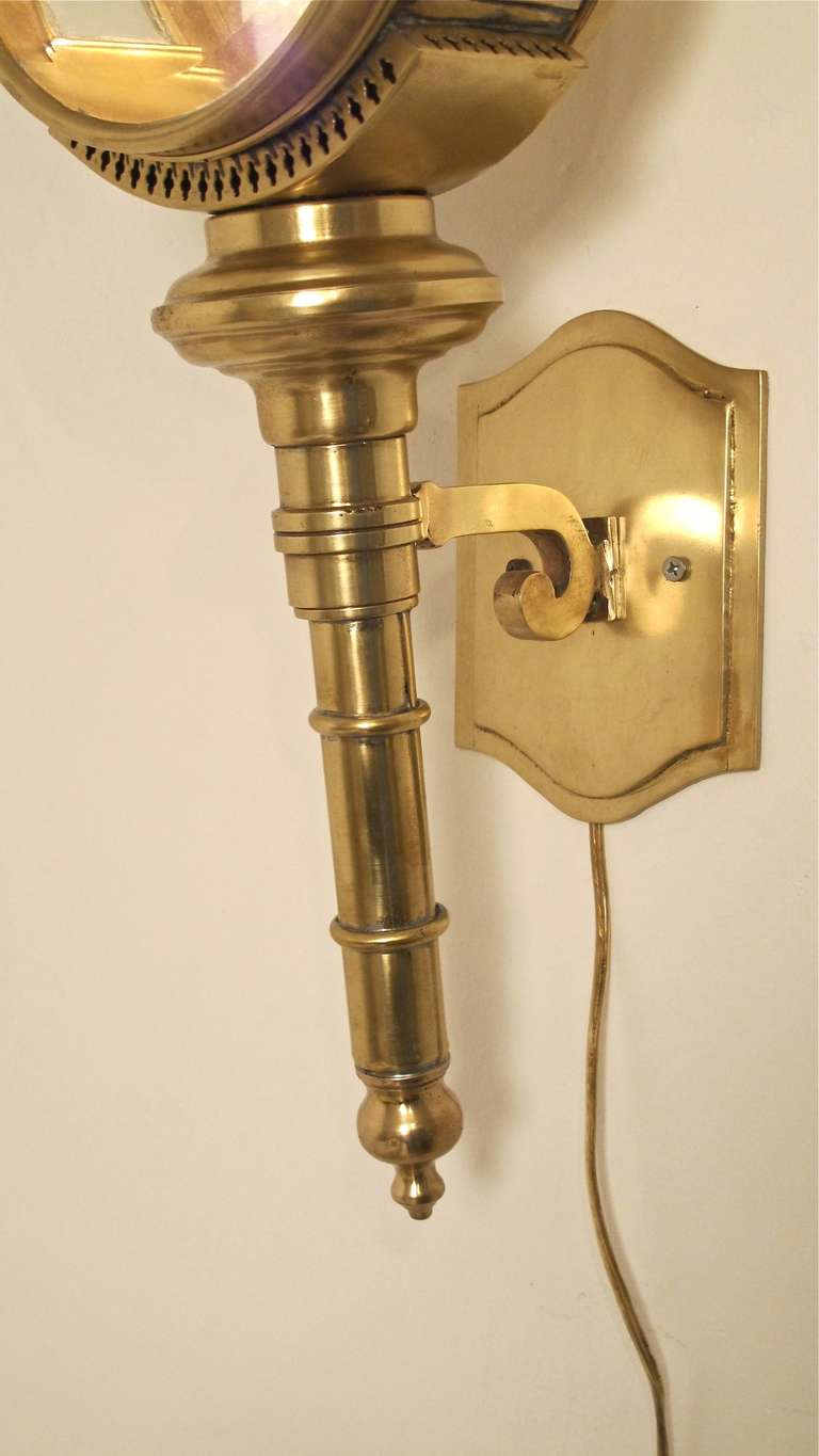 Brass Carriage Lamp/Lantern/Sconce For Sale at 1stdibs