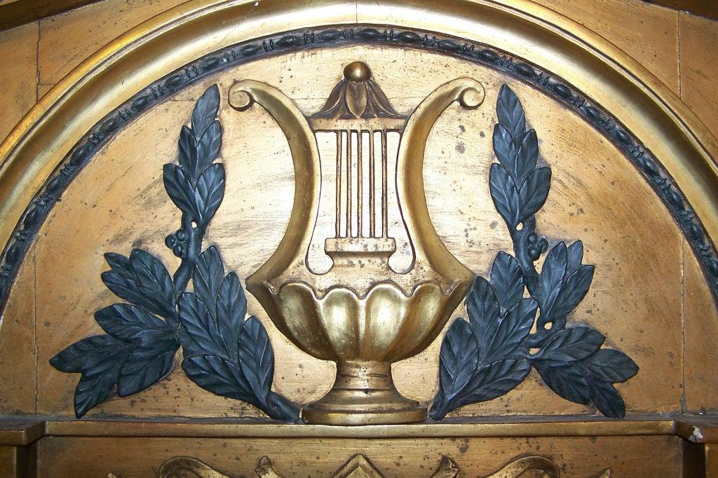 Gilt Italian Neoclassical Pier Mirror For Sale