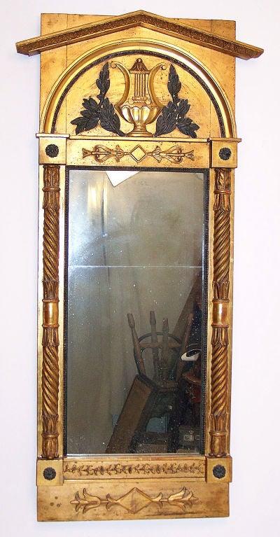 Italian Neoclassical Pier Mirror In Excellent Condition For Sale In San Francisco, CA