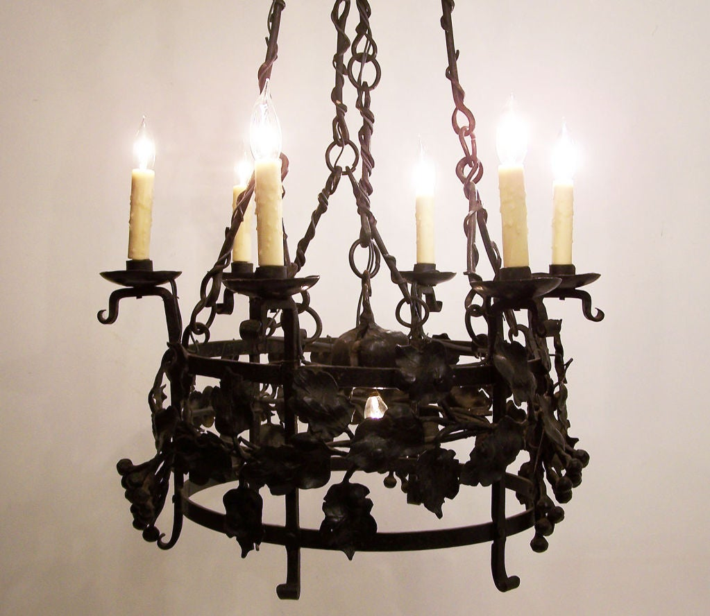 continental wrought iron light fixture at 1stdibs. Black Bedroom Furniture Sets. Home Design Ideas