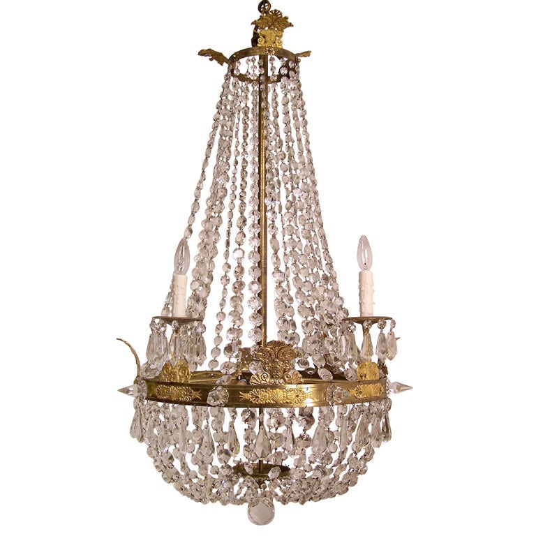 Large French Empire period Chandelier (1790-1825)