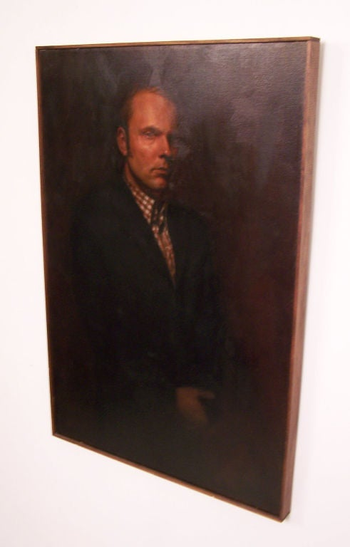 Large Portrait of a Gentleman, American Mid-20th Century In Good Condition For Sale In San Francisco, CA