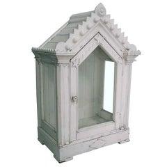 American Folk Art Display Case Cabinet