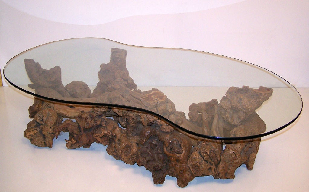 Burl Wood Root Coffee Table Image 3